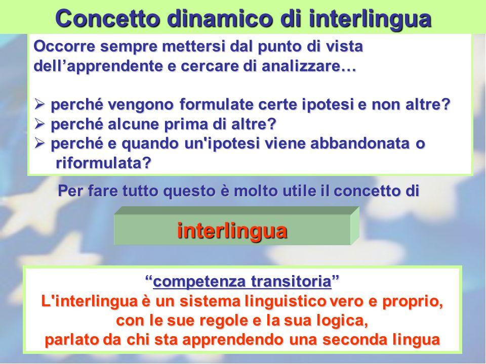 Concetto dinamico di interlingua