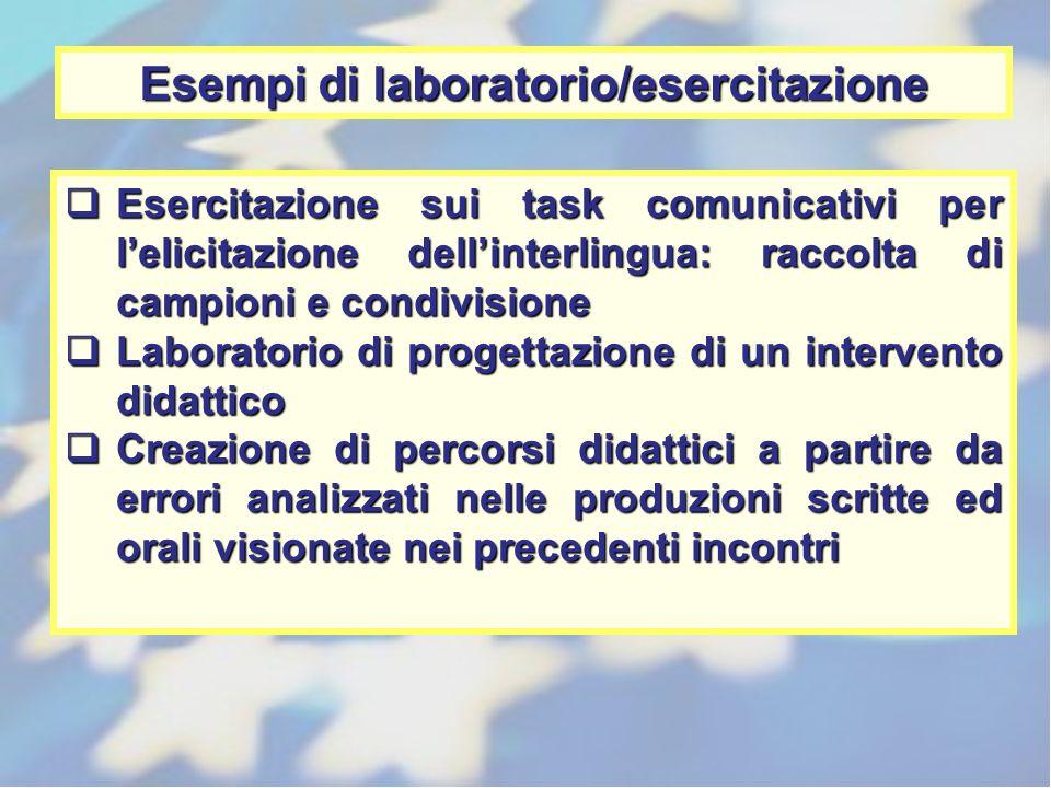 Esempi di laboratorio/esercitazione