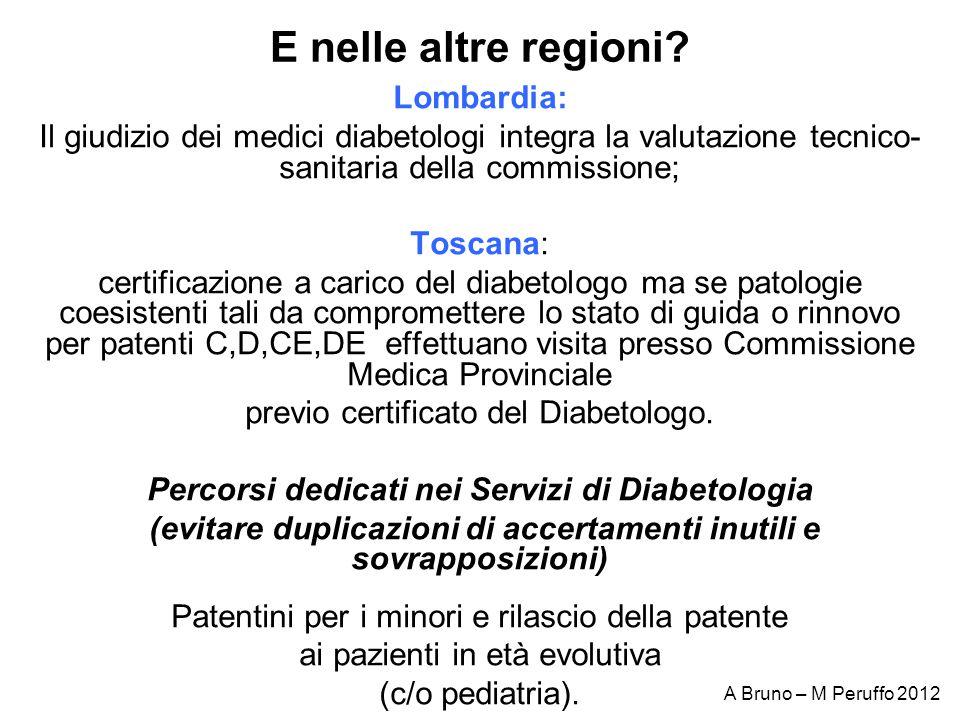 E nelle altre regioni Lombardia: