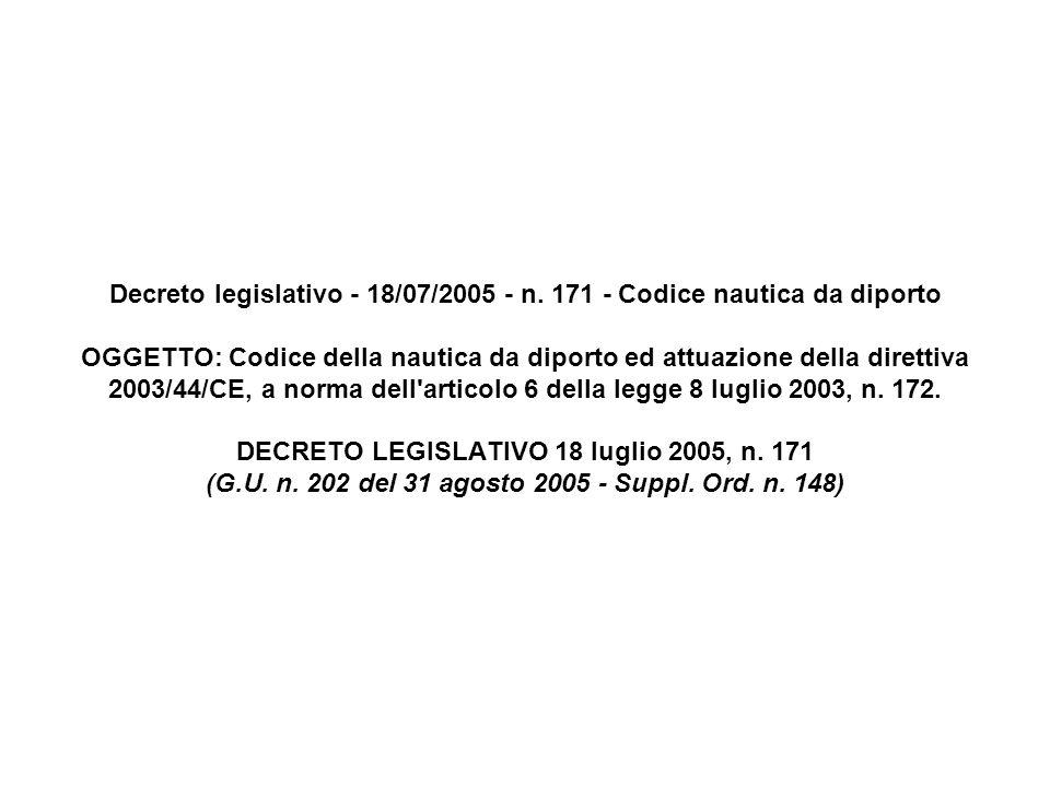 Decreto legislativo - 18/07/2005 - n