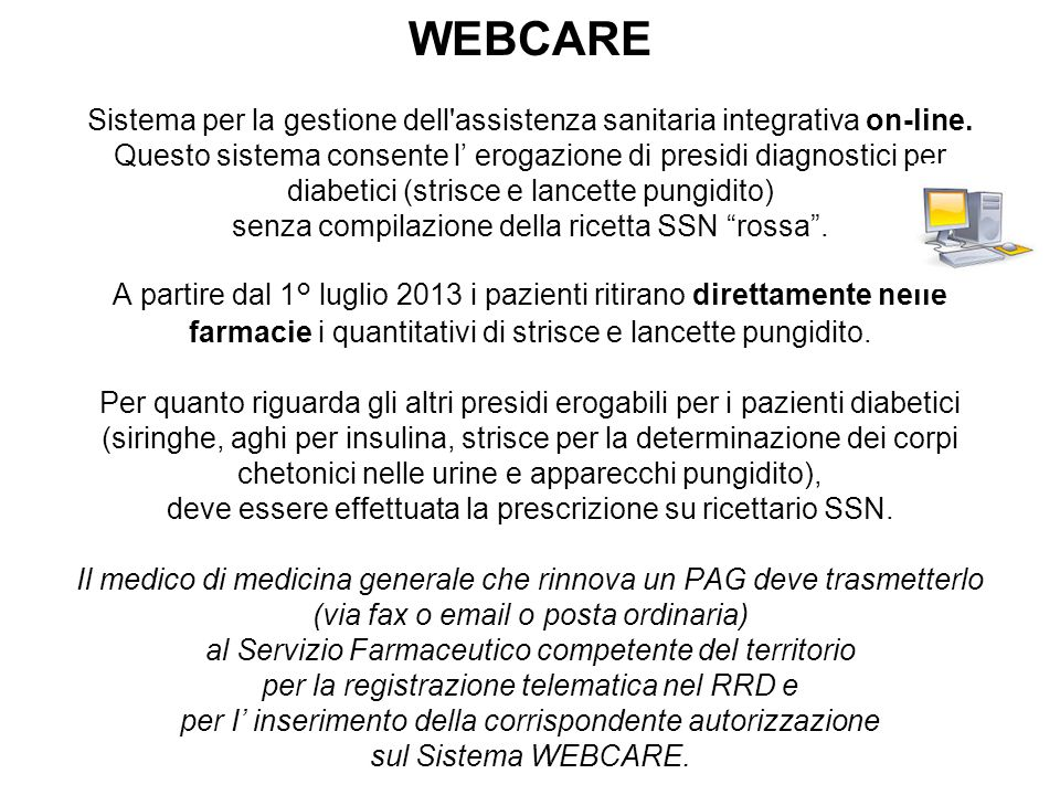 WEBCARE Sistema per la gestione dell assistenza sanitaria integrativa on-line.