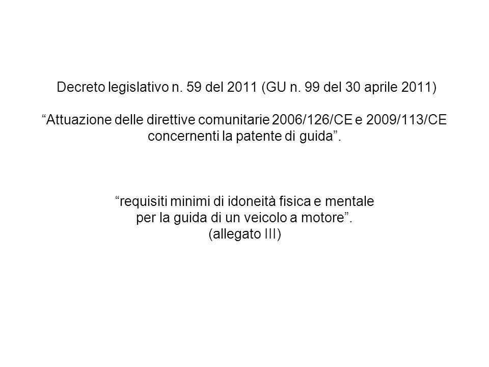 Decreto legislativo n. 59 del 2011 (GU n