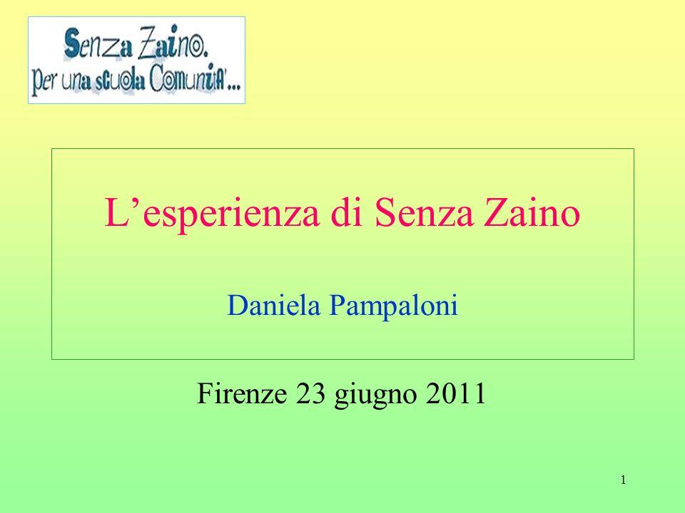 L'esperienza di Senza Zaino Daniela Pampaloni