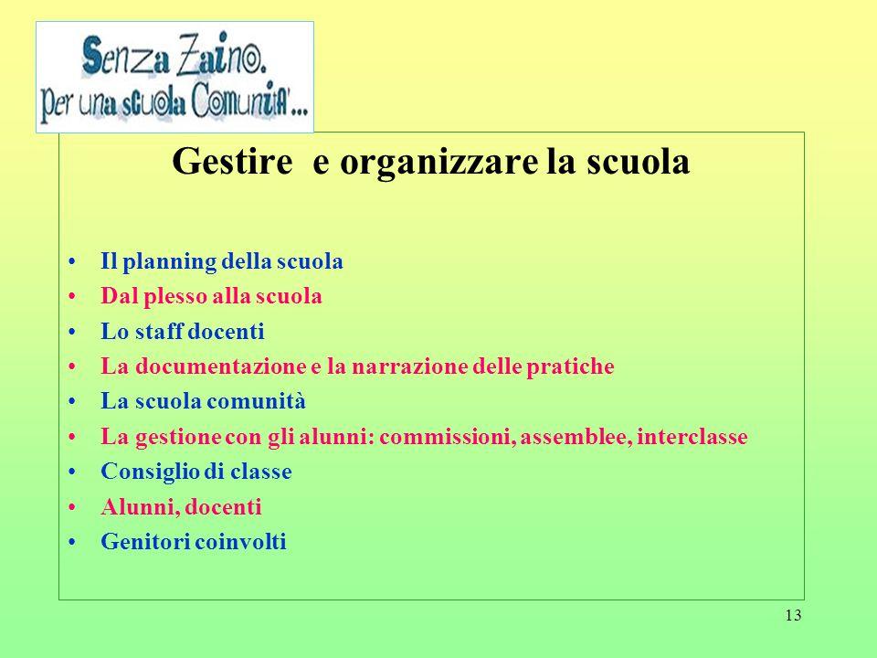 Gestire e organizzare la scuola