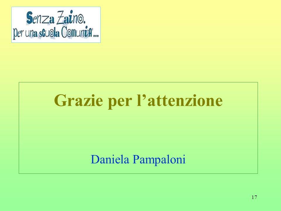 Grazie per l'attenzione Daniela Pampaloni