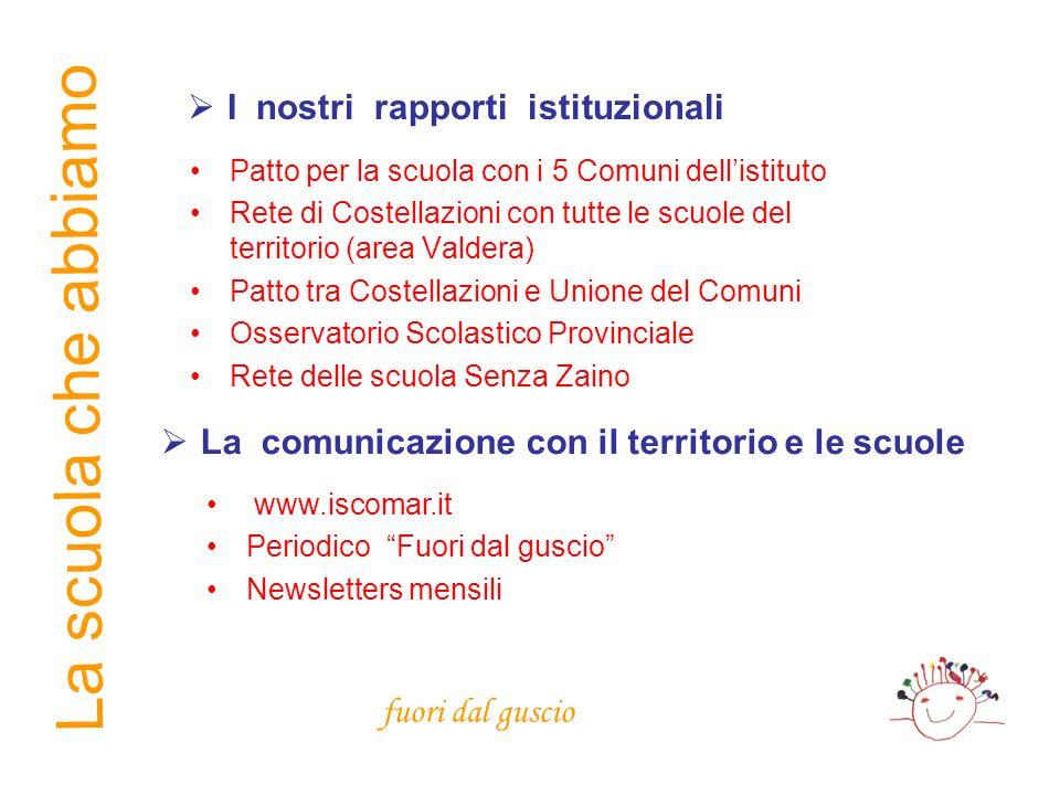 La comunicazione con il territorio e le scuole