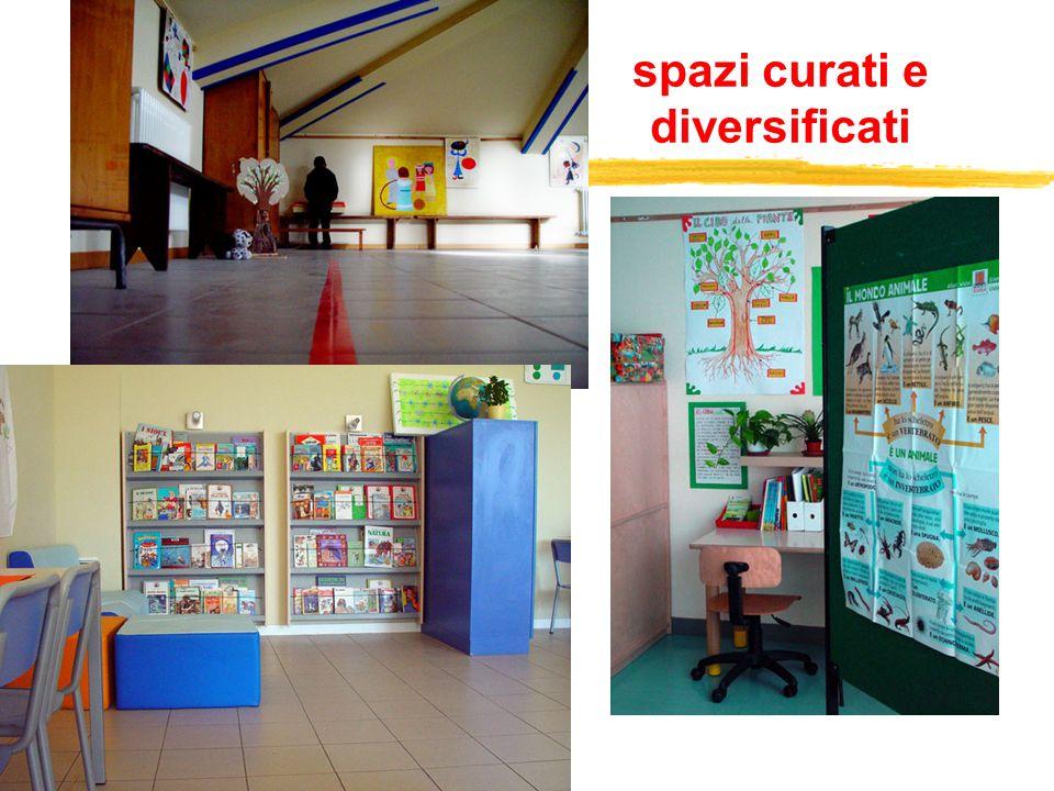spazi curati e diversificati