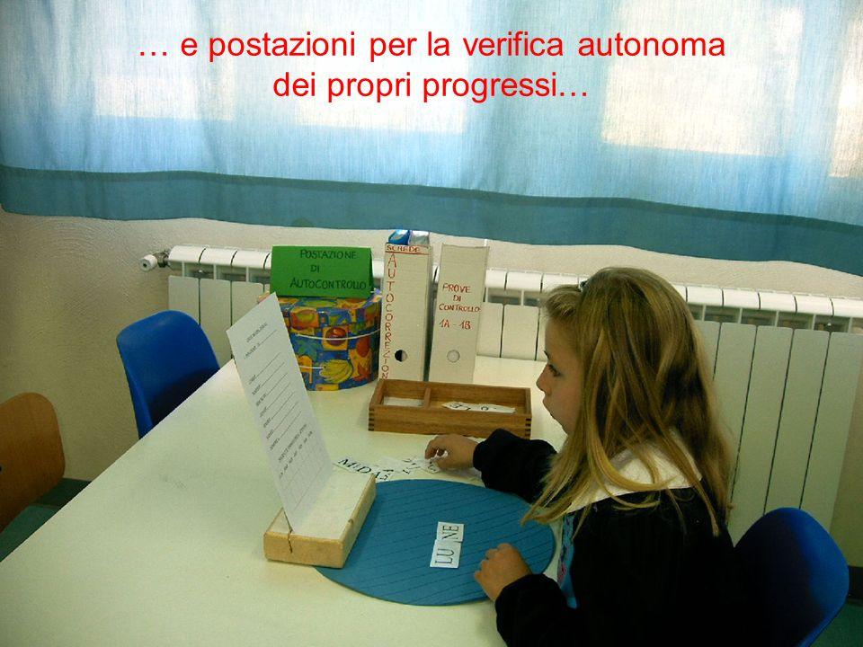… e postazioni per la verifica autonoma dei propri progressi…