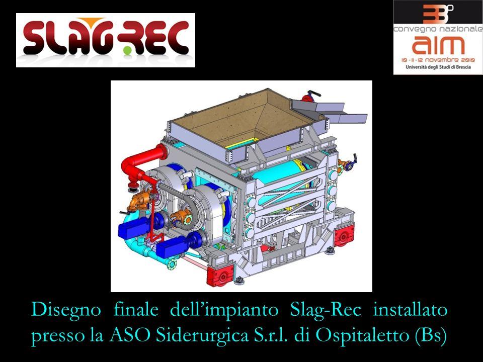 Disegno finale dell'impianto Slag-Rec installato presso la ASO Siderurgica S.r.l.