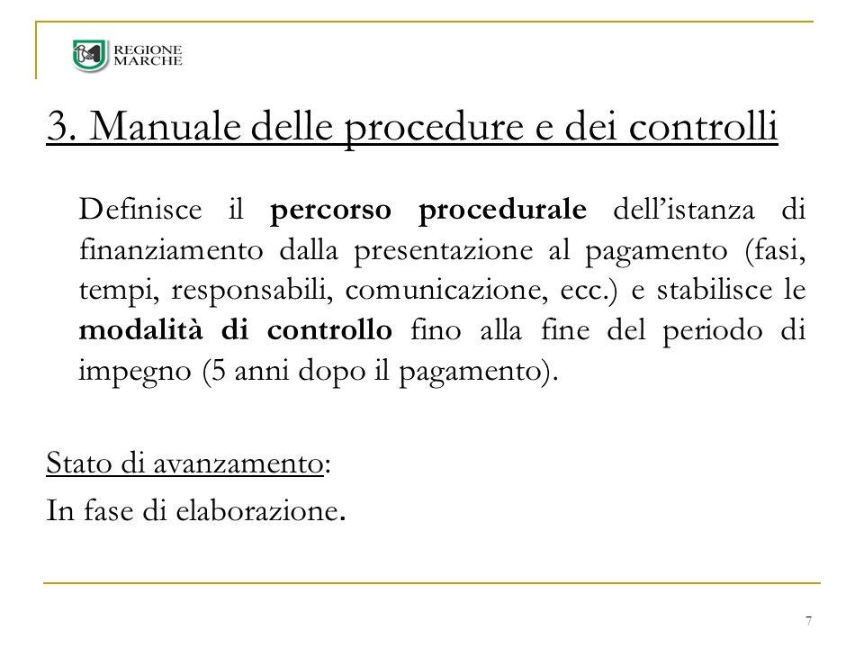 3. Manuale delle procedure e dei controlli