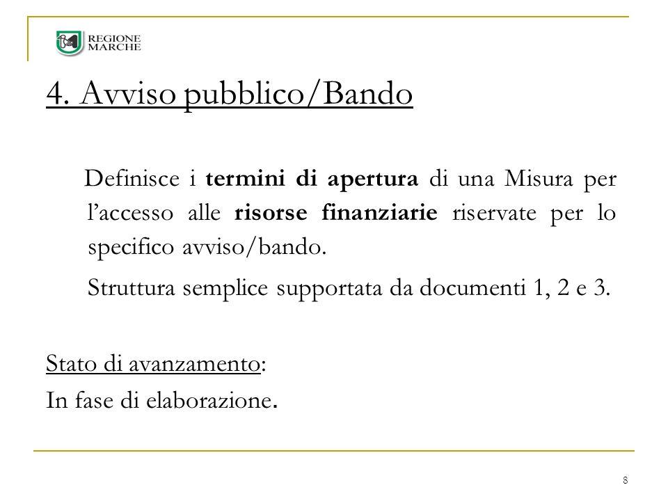 4. Avviso pubblico/Bando