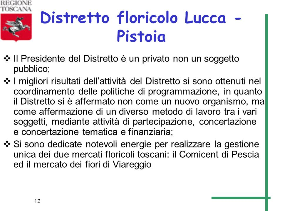 Distretto floricolo Lucca - Pistoia