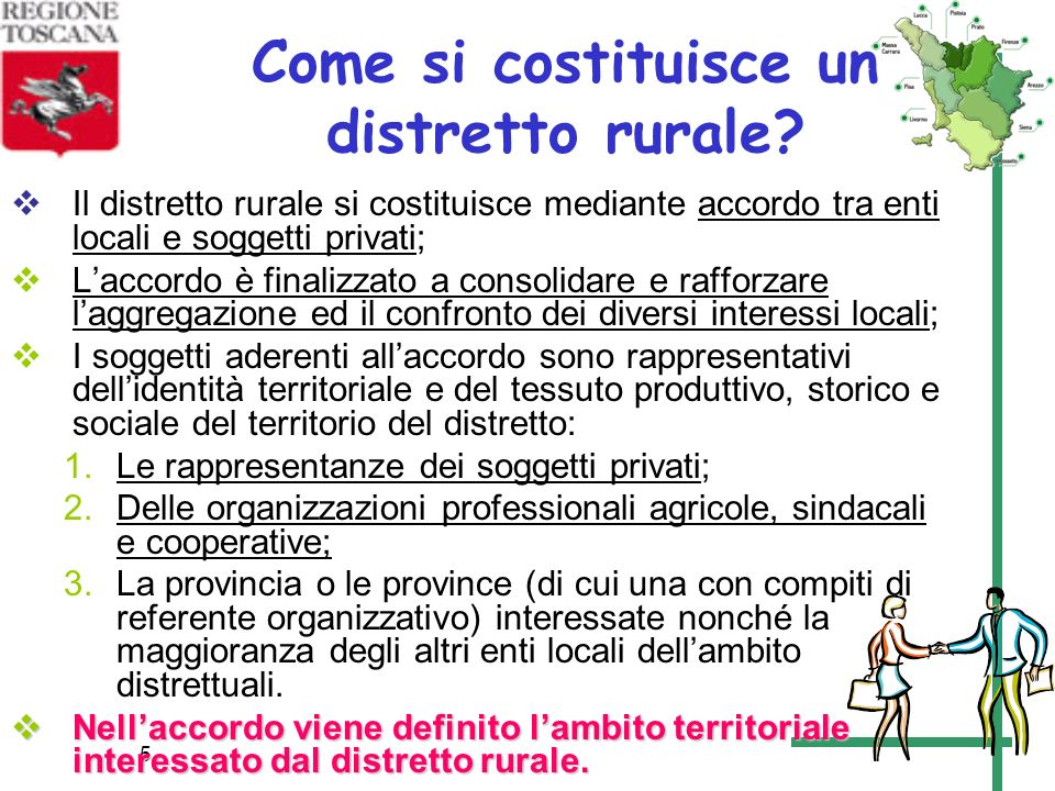 Come si costituisce un distretto rurale