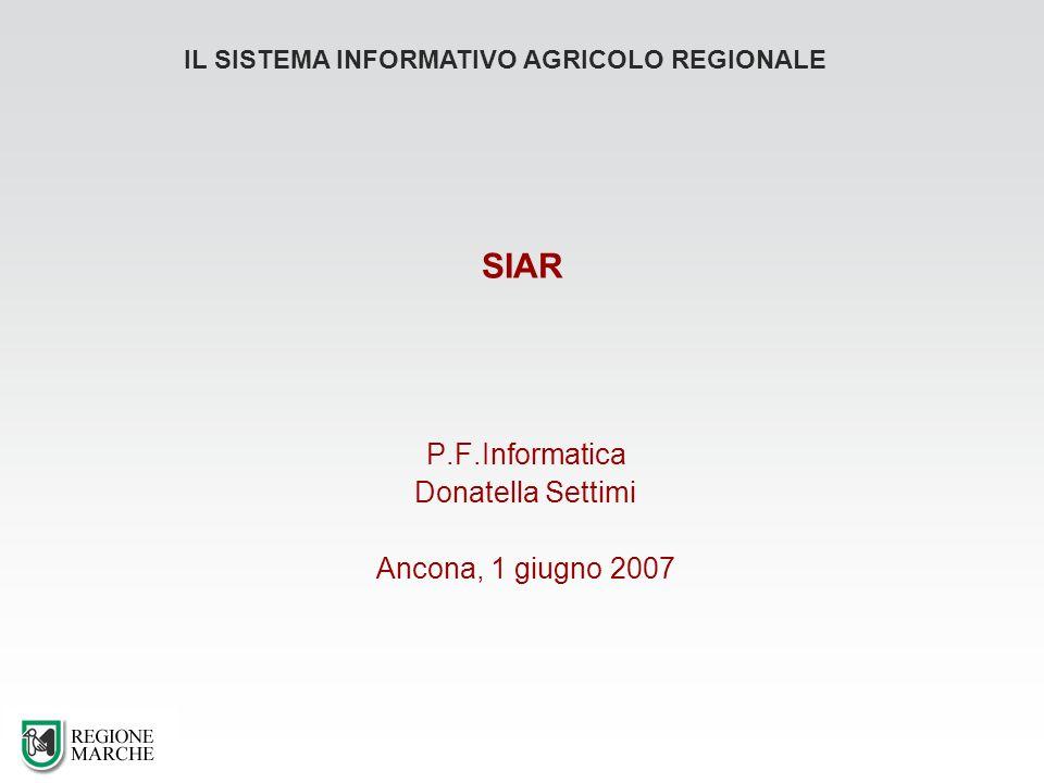 P.F.Informatica Donatella Settimi Ancona, 1 giugno 2007