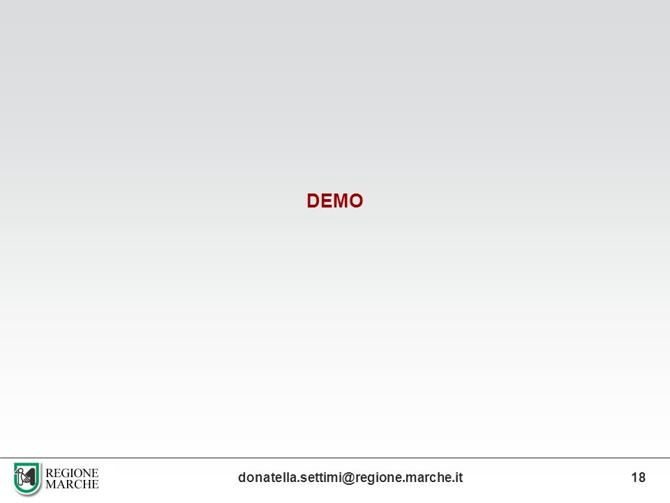 DEMO donatella.settimi@regione.marche.it 18