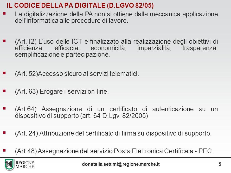 IL CODICE DELLA PA DIGITALE (D.LGVO 82/05)