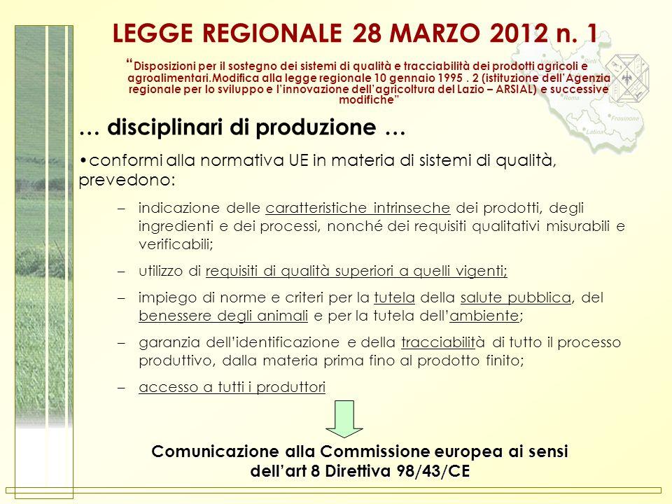 LEGGE REGIONALE 28 MARZO 2012 n. 1