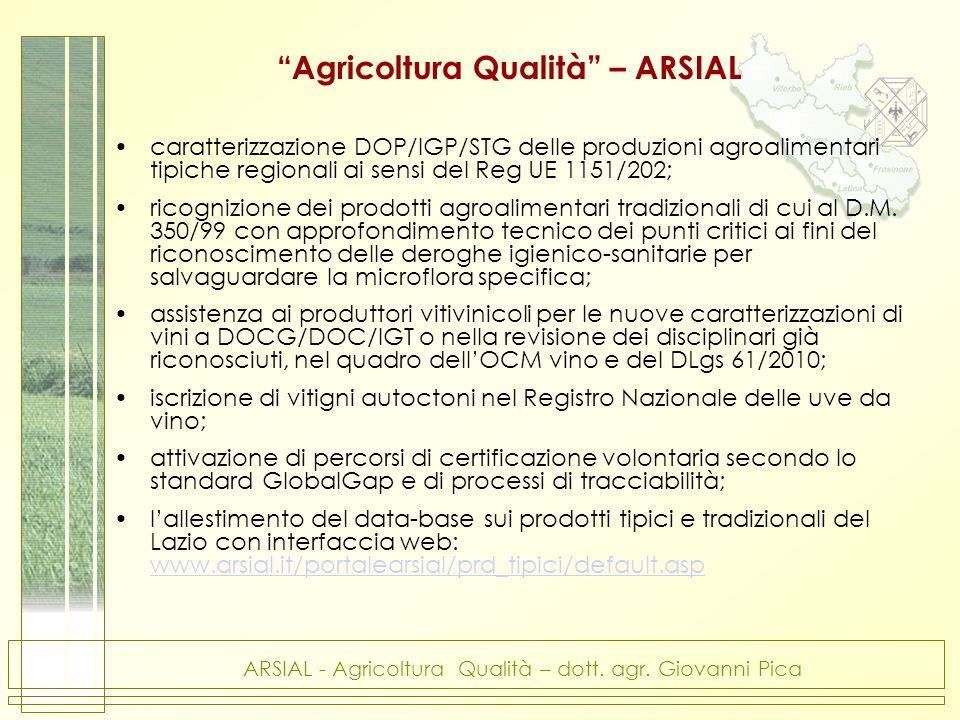 Agricoltura Qualità – ARSIAL