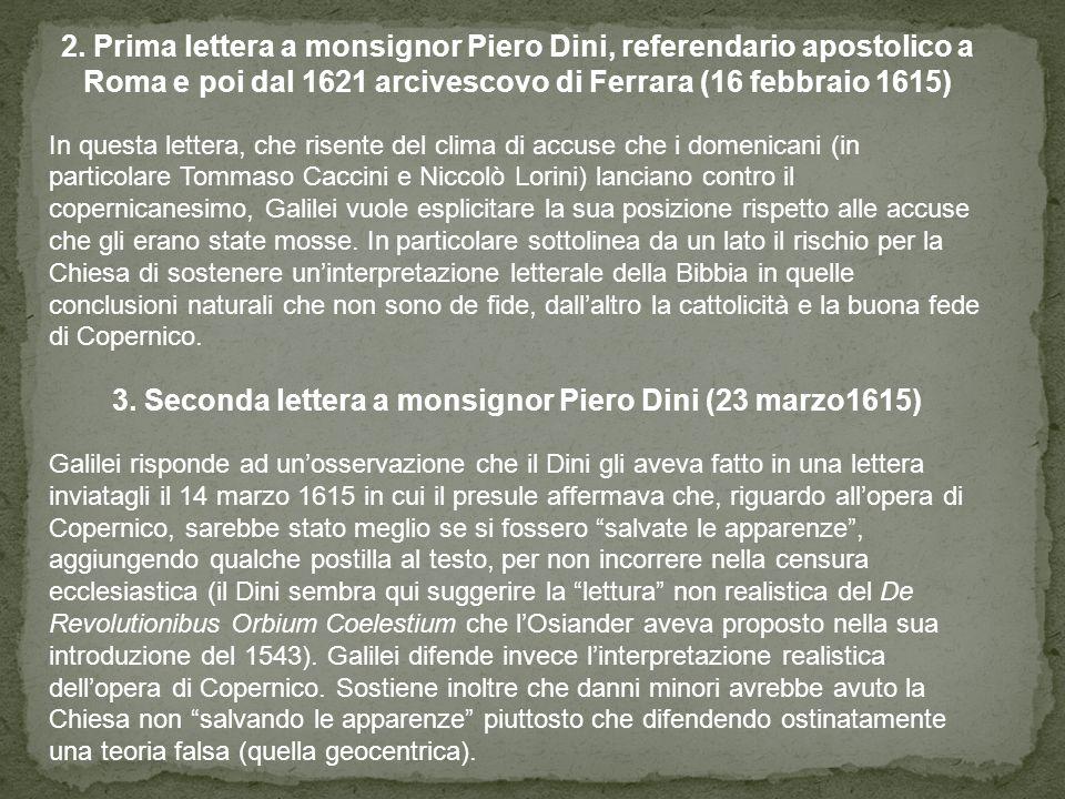 3. Seconda lettera a monsignor Piero Dini (23 marzo1615)