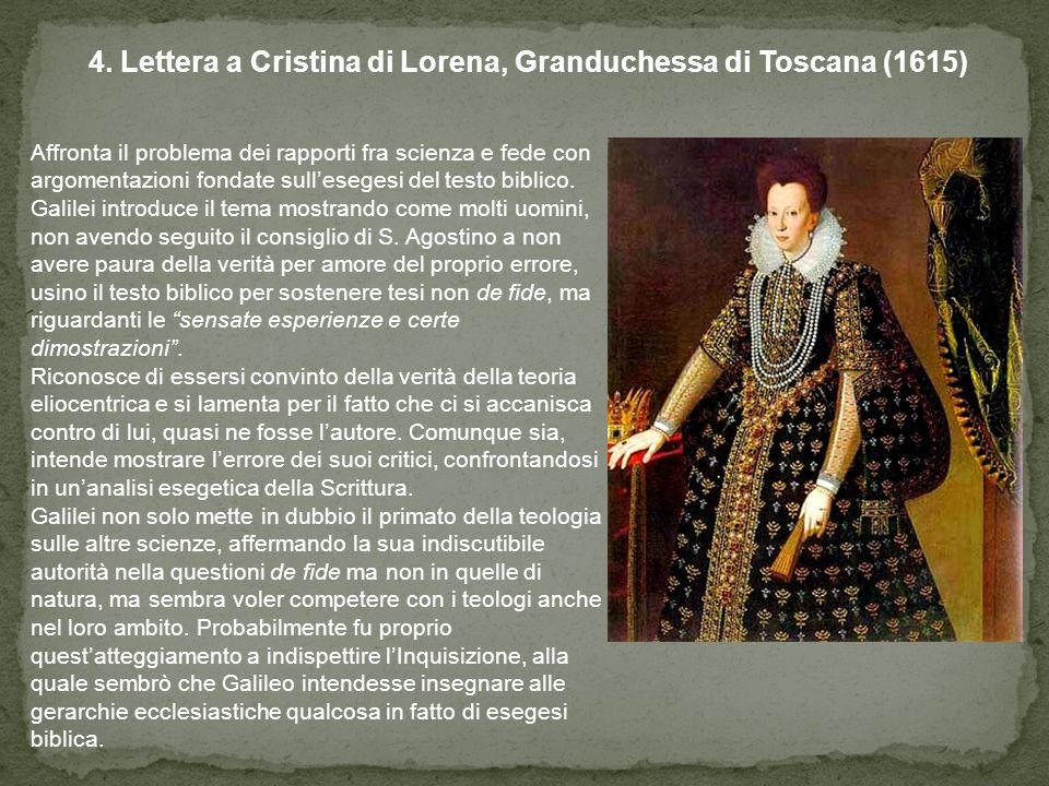 4. Lettera a Cristina di Lorena, Granduchessa di Toscana (1615)