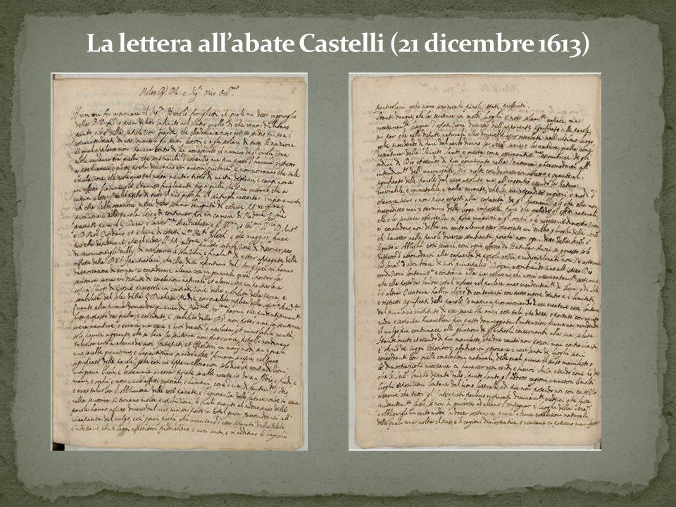 La lettera all'abate Castelli (21 dicembre 1613)