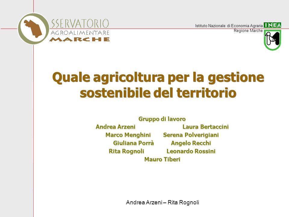Quale agricoltura per la gestione sostenibile del territorio
