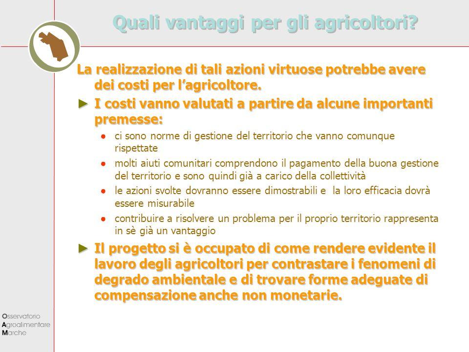 Quali vantaggi per gli agricoltori
