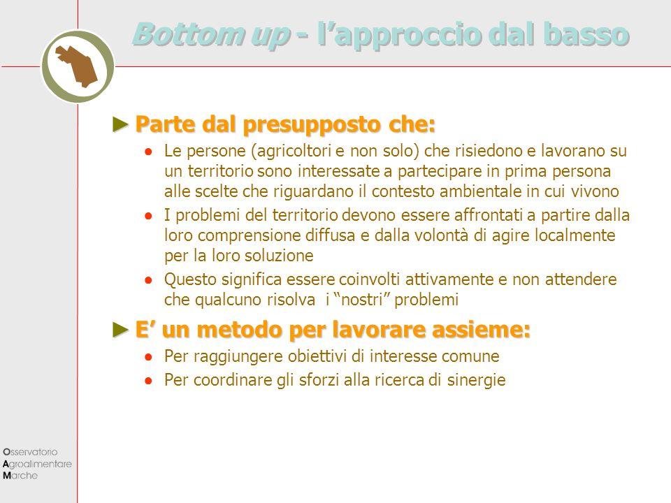 Bottom up - l'approccio dal basso