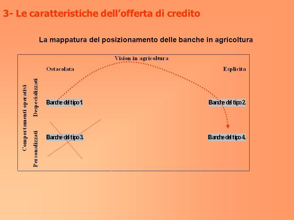 3- Le caratteristiche dell'offerta di credito