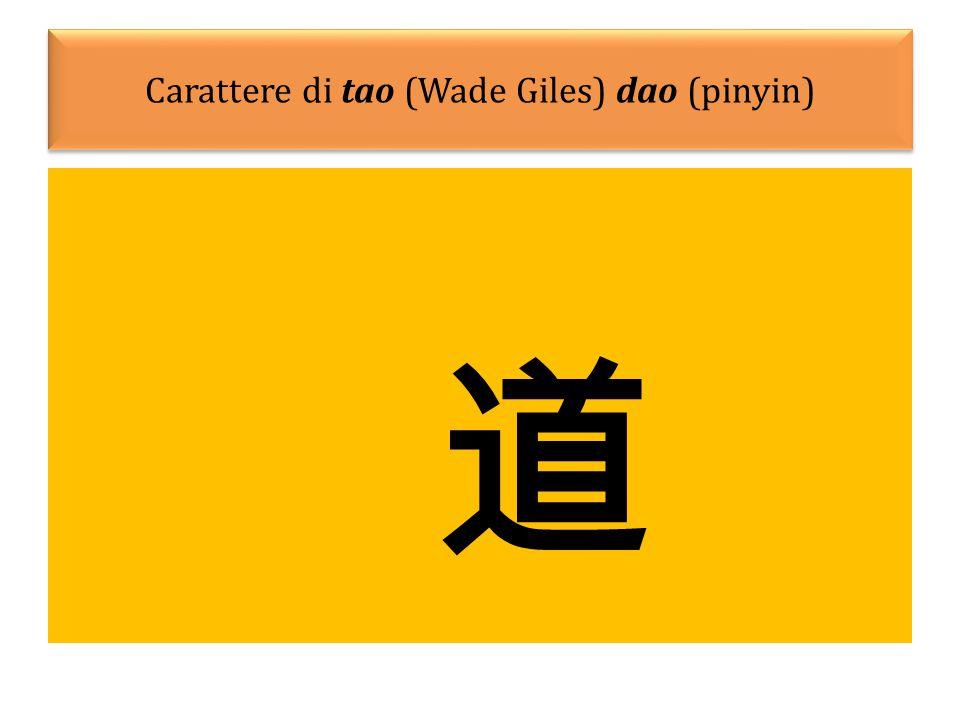 Carattere di tao (Wade Giles) dao (pinyin)