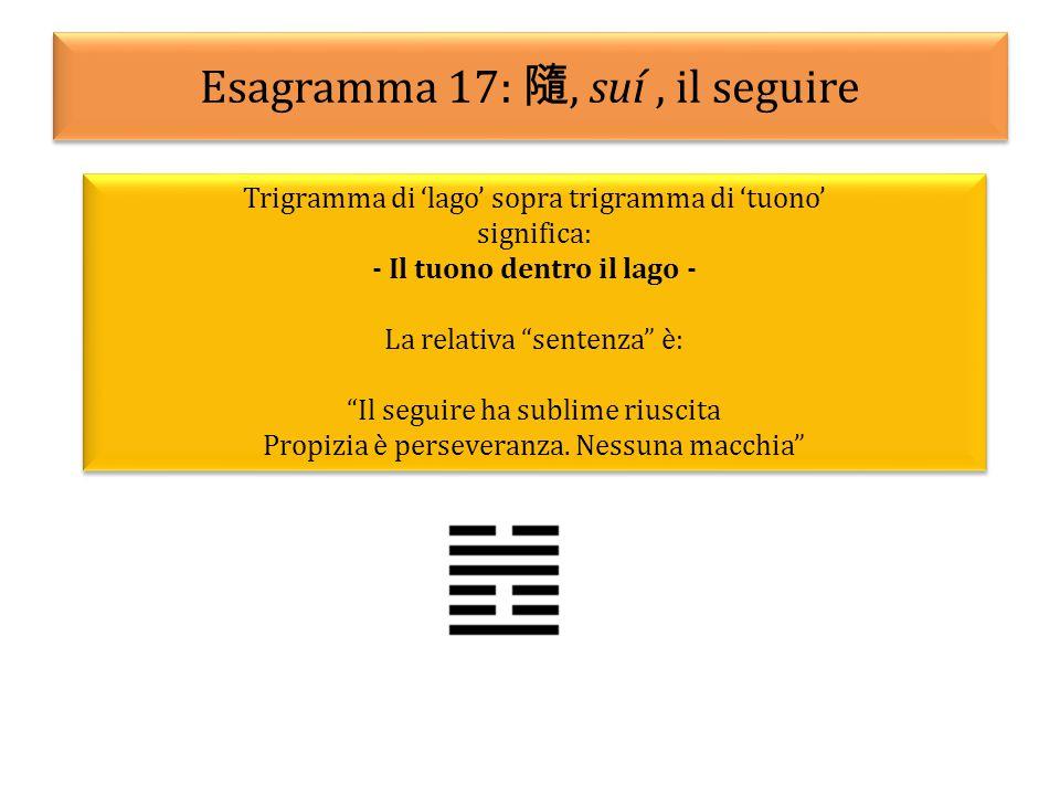 Esagramma 17: 隨, suí , il seguire