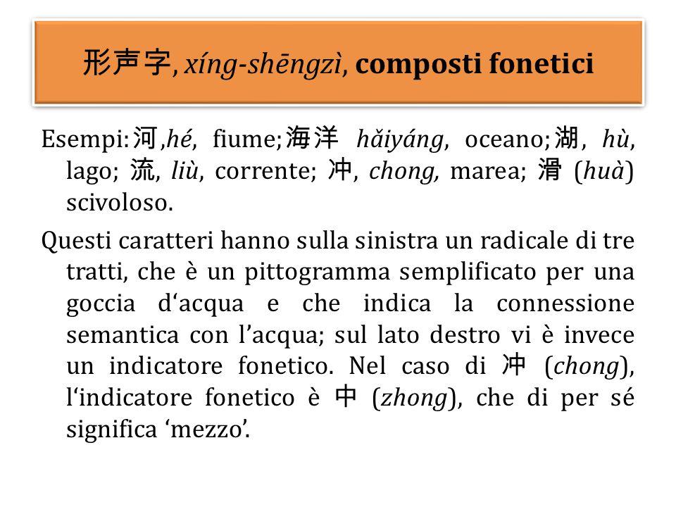形声字, xíng-shēngzì, composti fonetici