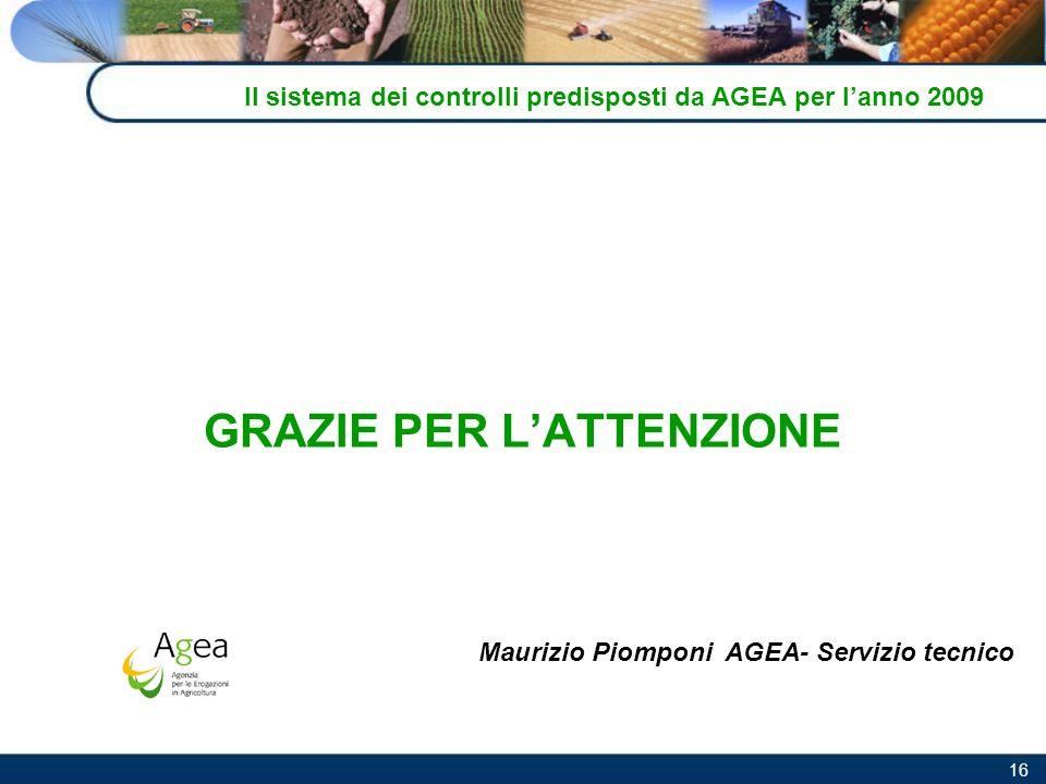 Il sistema dei controlli predisposti da AGEA per l'anno 2009