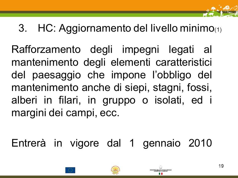 HC: Aggiornamento del livello minimo(1)