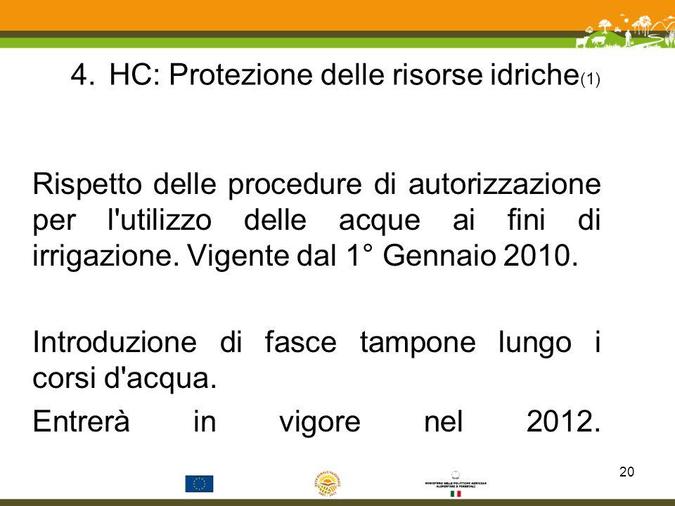 HC: Protezione delle risorse idriche(1)