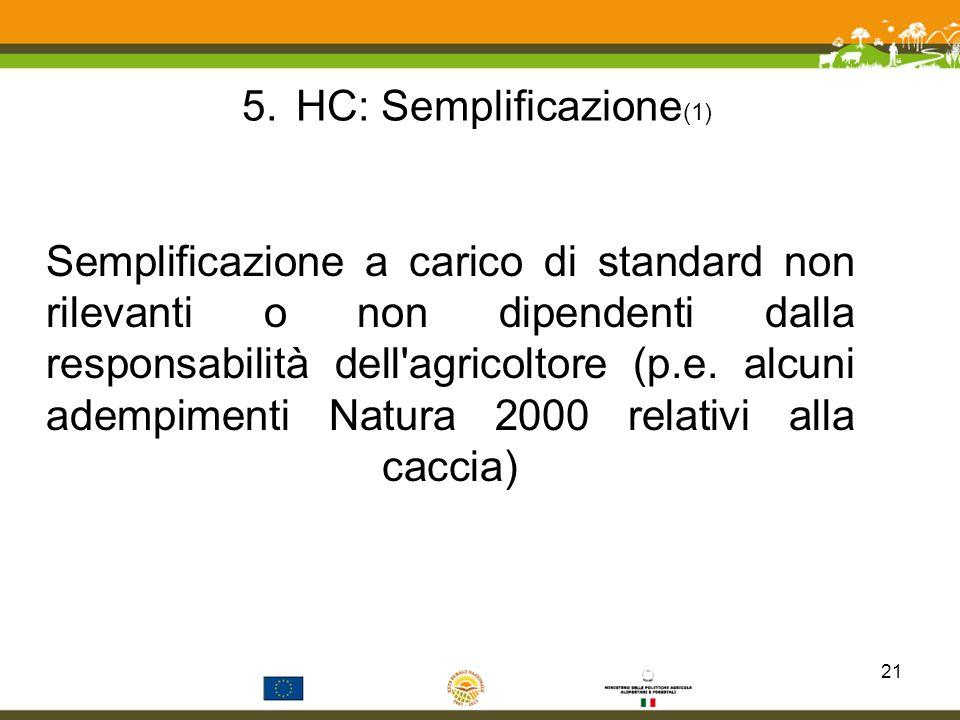 HC: Semplificazione(1)