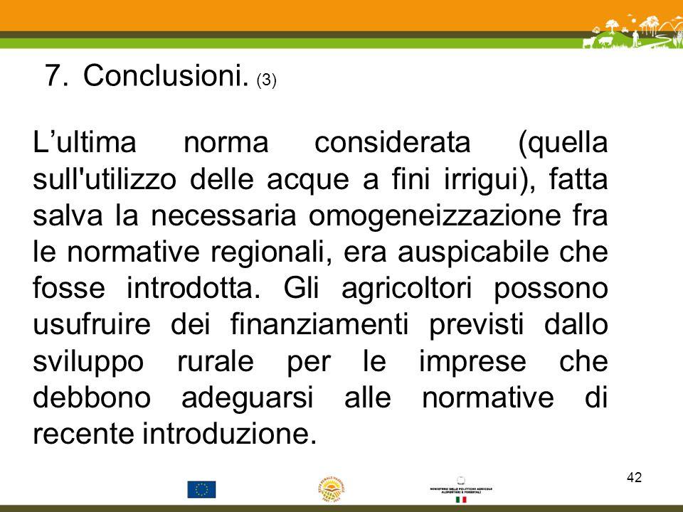 Conclusioni. (3)