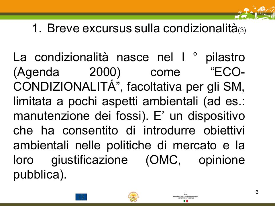 Breve excursus sulla condizionalità(3)