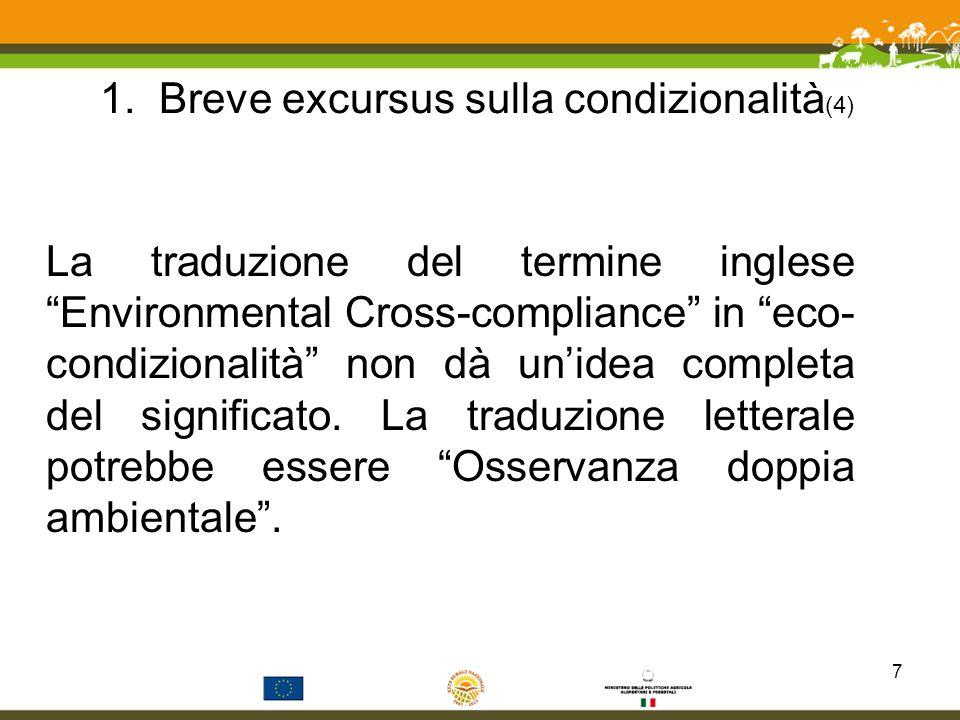 1. Breve excursus sulla condizionalità(4)