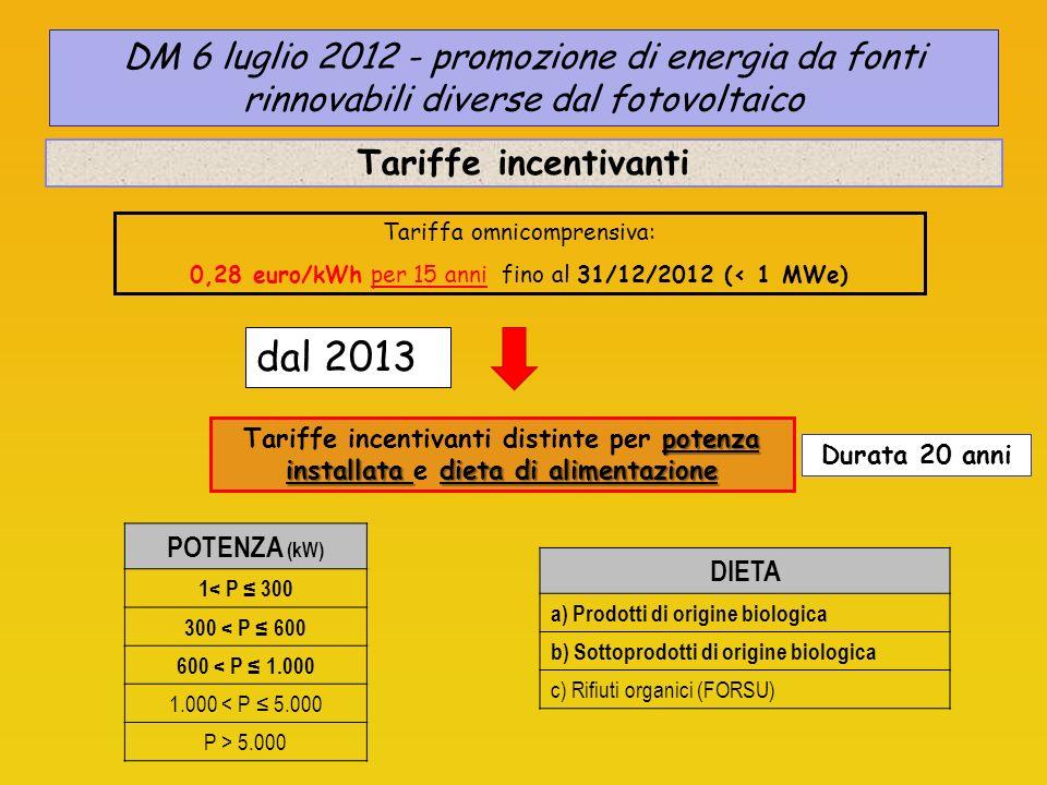 DM 6 luglio 2012 - promozione di energia da fonti rinnovabili diverse dal fotovoltaico