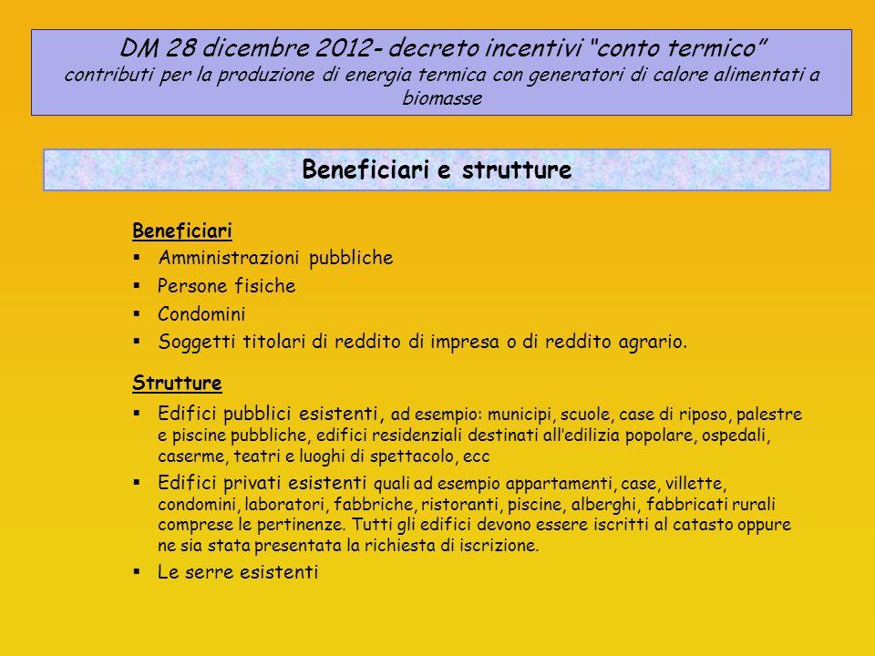 Beneficiari e strutture