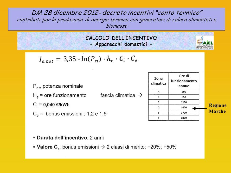 CALCOLO DELL'INCENTIVO - Apparecchi domestici -