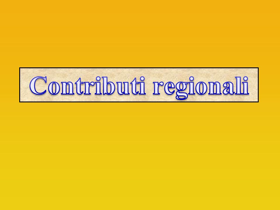 Contributi regionali