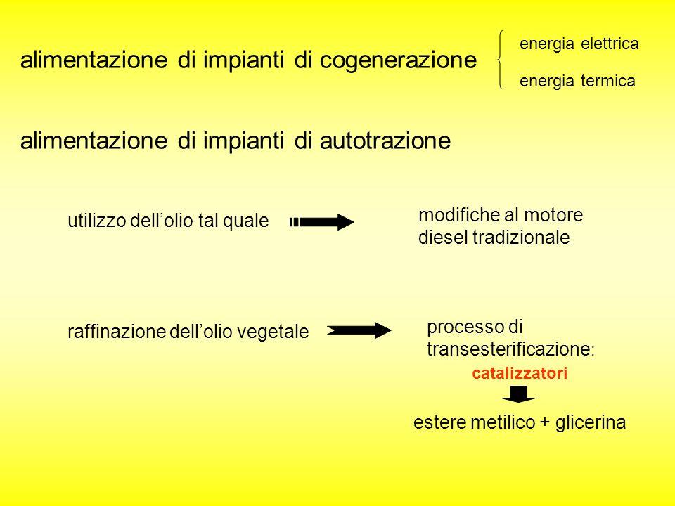 alimentazione di impianti di cogenerazione