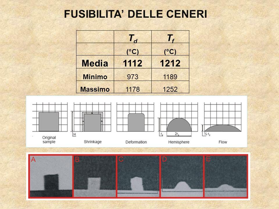 FUSIBILITA' DELLE CENERI