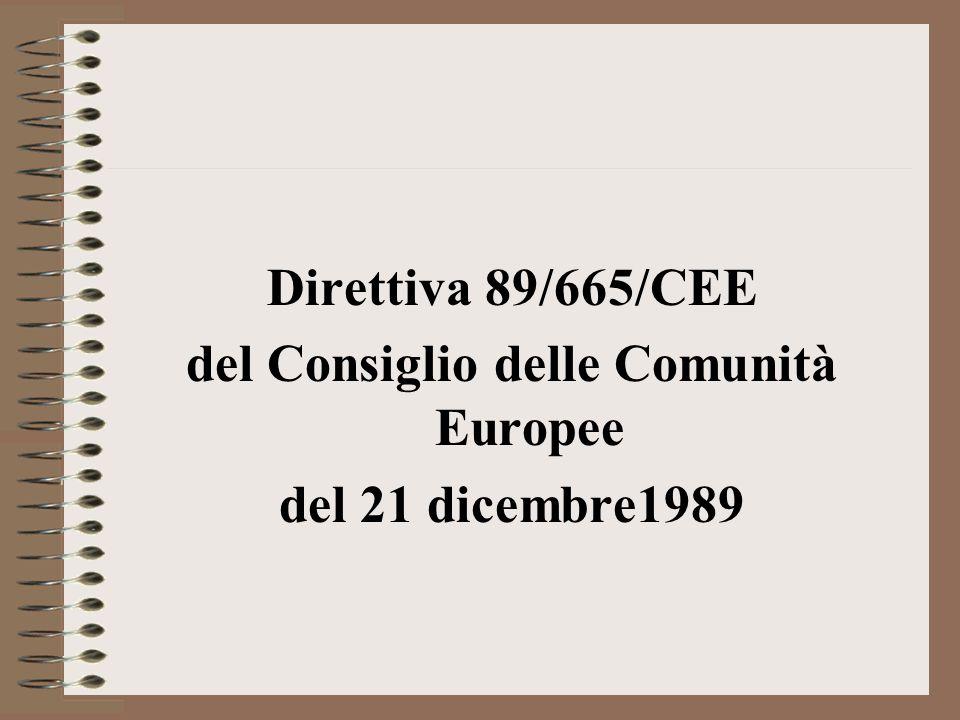 del Consiglio delle Comunità Europee