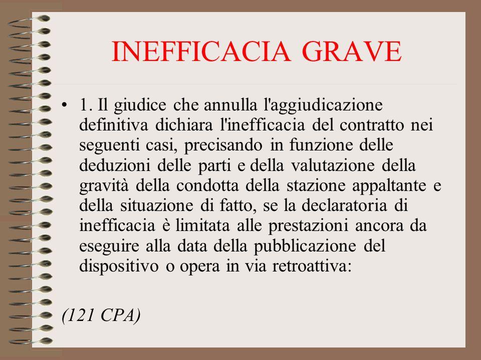 INEFFICACIA GRAVE