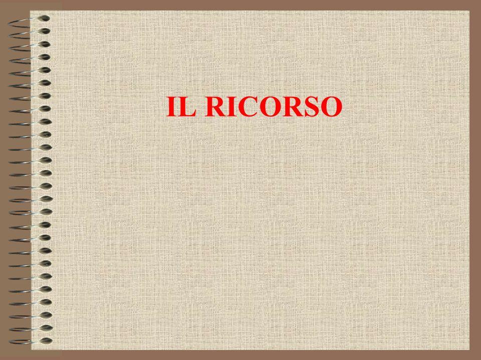 IL RICORSO