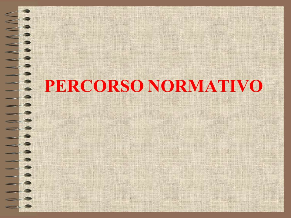 PERCORSO NORMATIVO