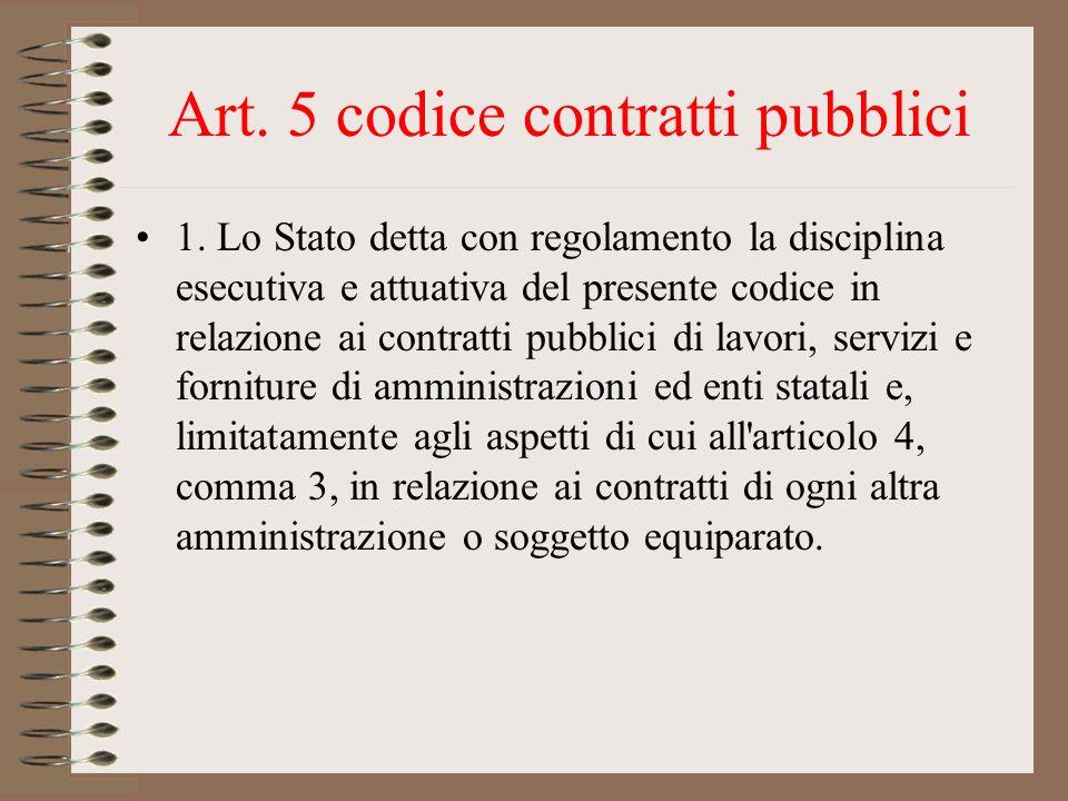 Art. 5 codice contratti pubblici
